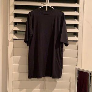 dark grey topshop t shirt dress